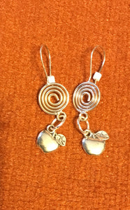 Apples of Afalon Spiral Earrings