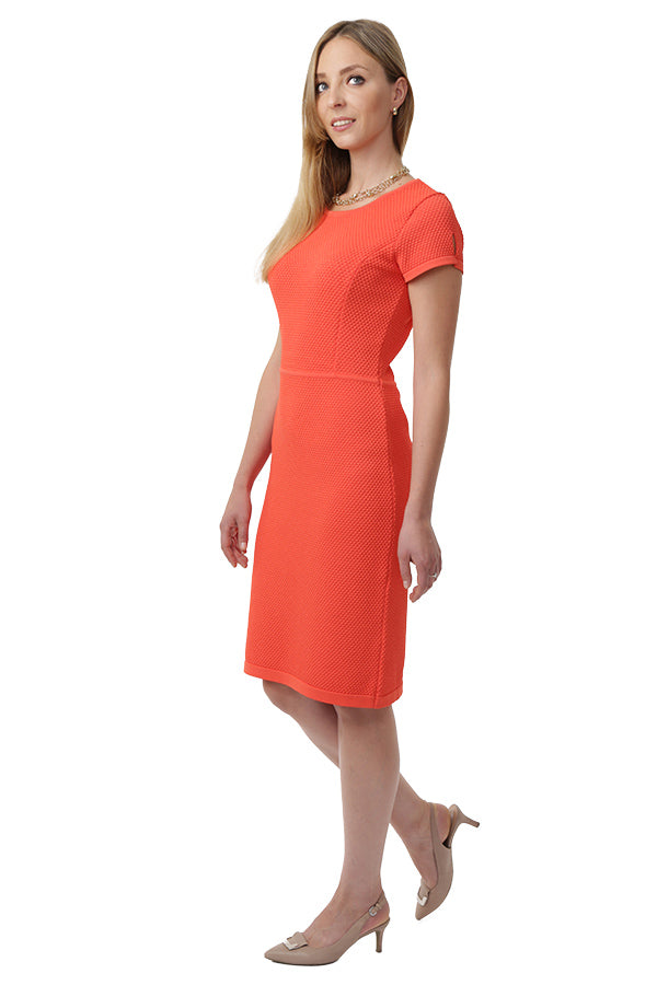 BRIGITTE Knitted Dress (Orange)