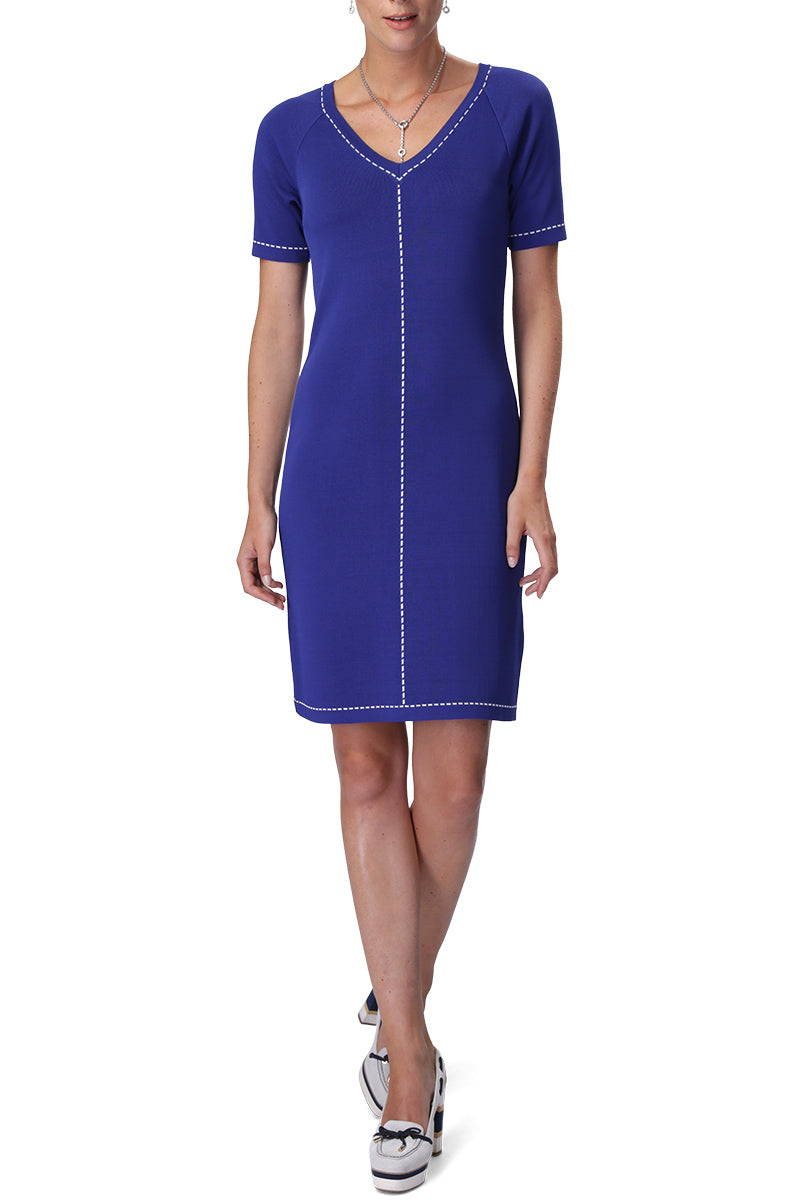 CINDY Dress (Royal Blue/White)