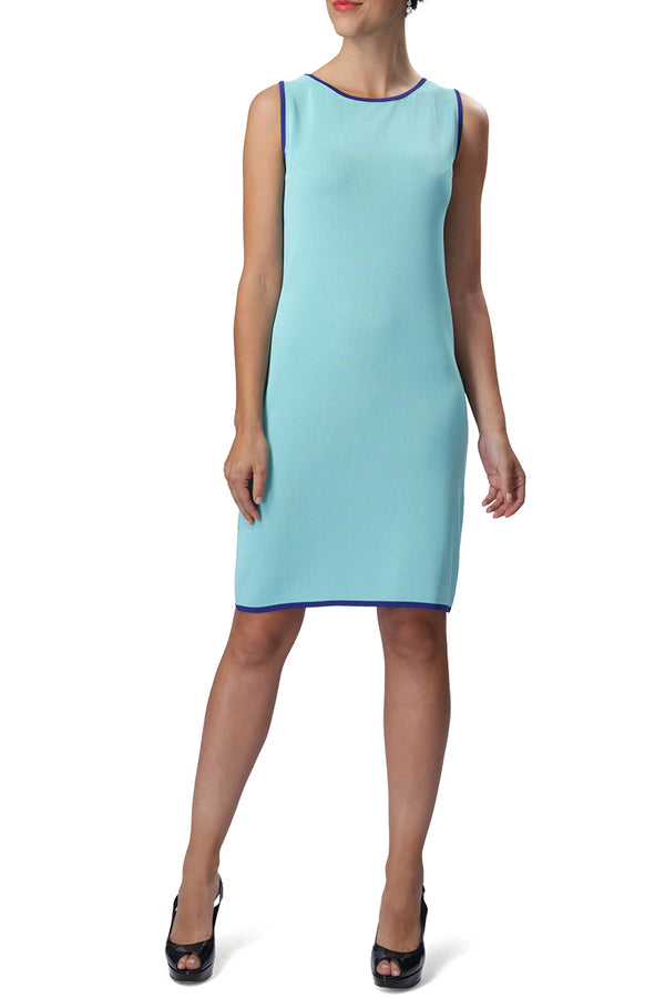 HEATHER Dress (Aqua/Royal Blue)
