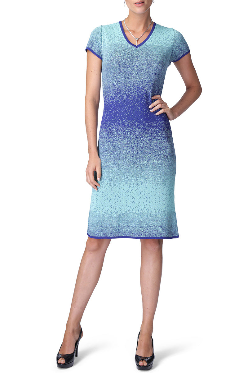 RUMOUR Dress (Aqua/Royal Blue)