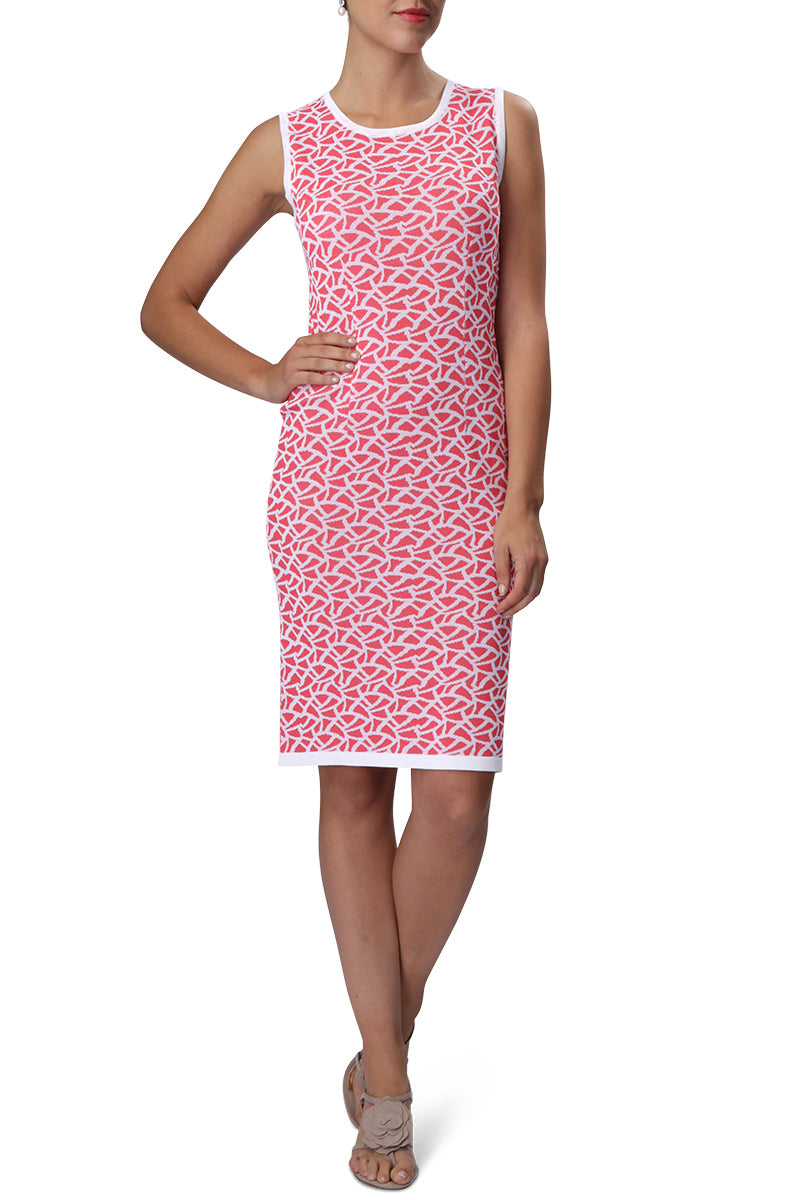 SUZIE Dress (Coral/White)