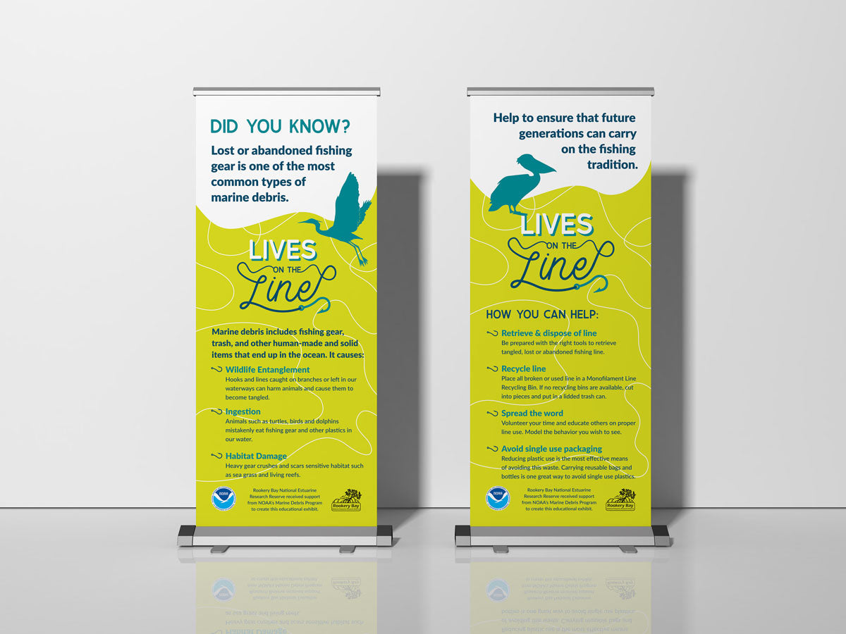 Lives on the Line Retractable Banner Stands