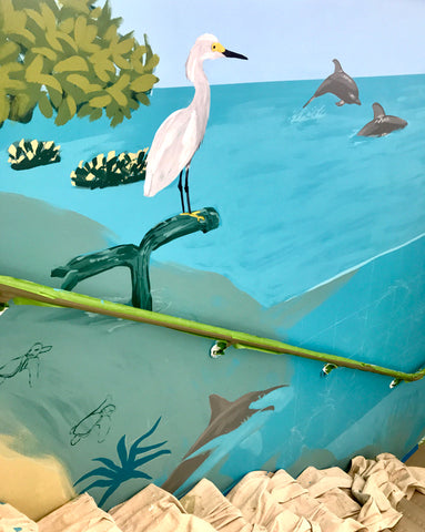 Dora's Rookery Bay Mural in Progress