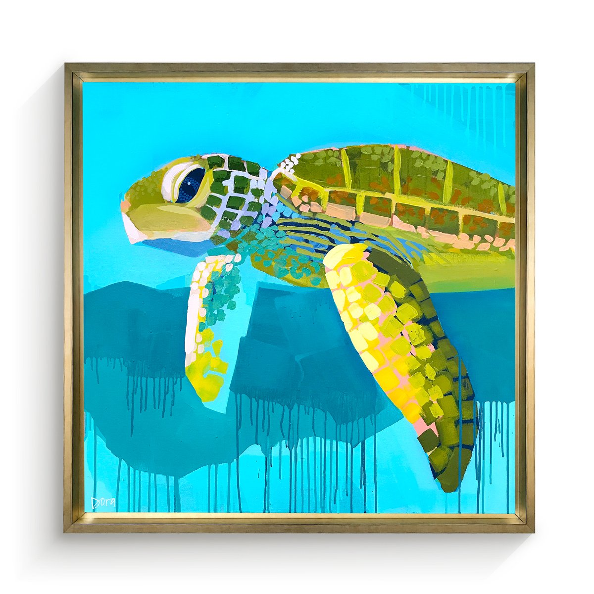 """Coming Home"" Sea Turtle Art by Dora Knuteson"