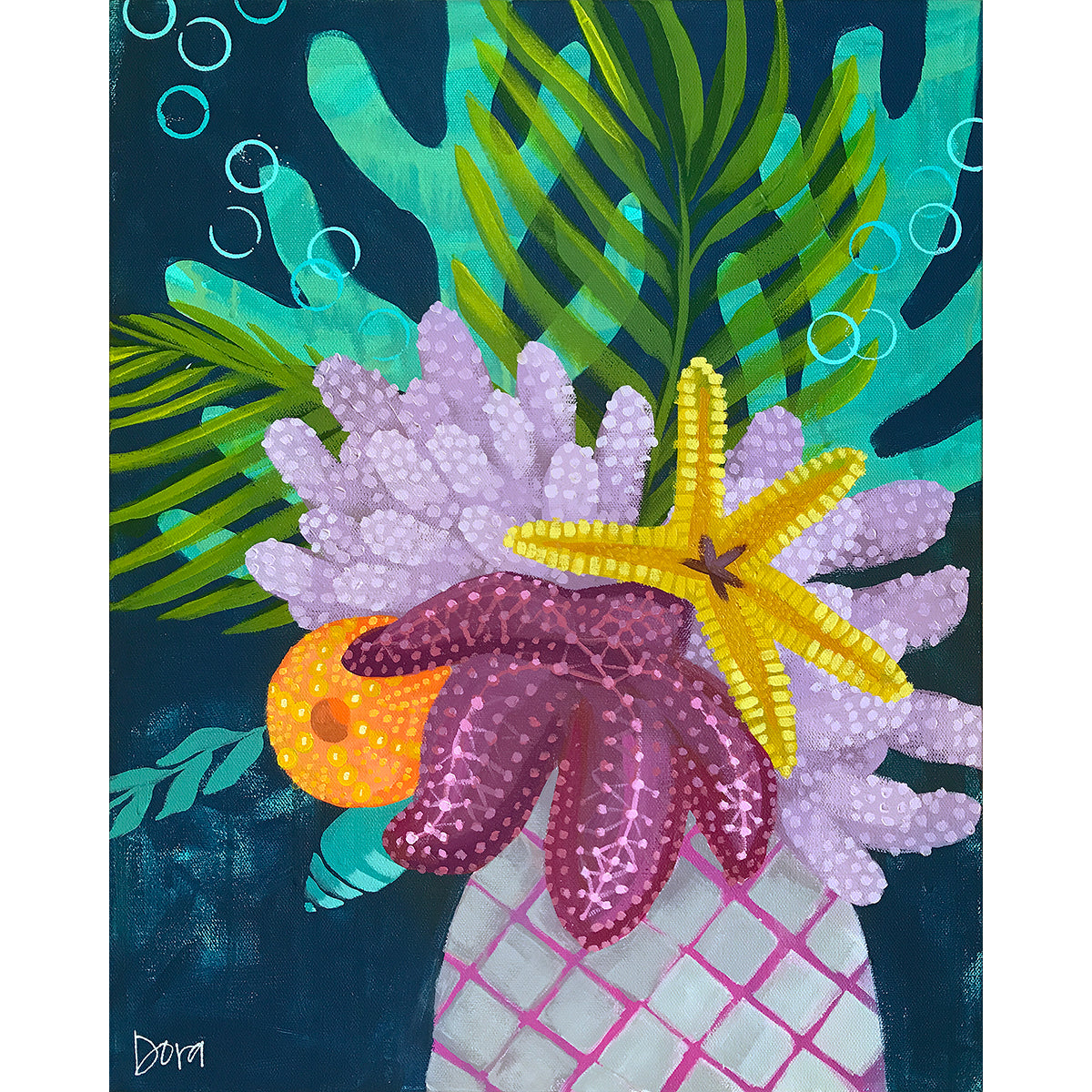 Bahama Mama - Sea Life Bouquet Art by Dora Knuteson