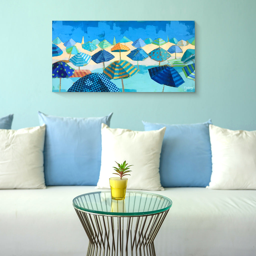"Preview of ""Beach Blues"" Gallery Wrap by Dora Knuteson"