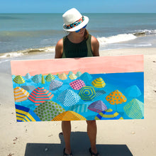 Load image into Gallery viewer, Dora Knuteson and her work titled Bubble Gum Beach
