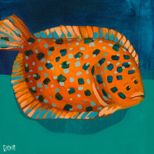 "Load image into Gallery viewer, ""Flip Flop Flounder"" by Dora Knuteson"