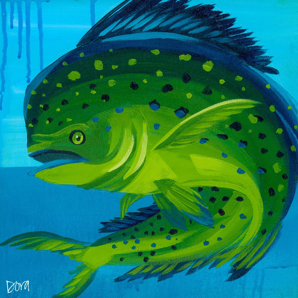 """Mini Mahi"" Fish Art by Dora Knuteson"
