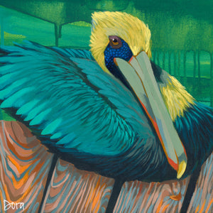 """Boardwalk Beauty"" Shore Bird Art by Dora Knuteson"