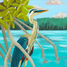 "Load image into Gallery viewer, ""Heron Hideout"" by Dora Knuteson"