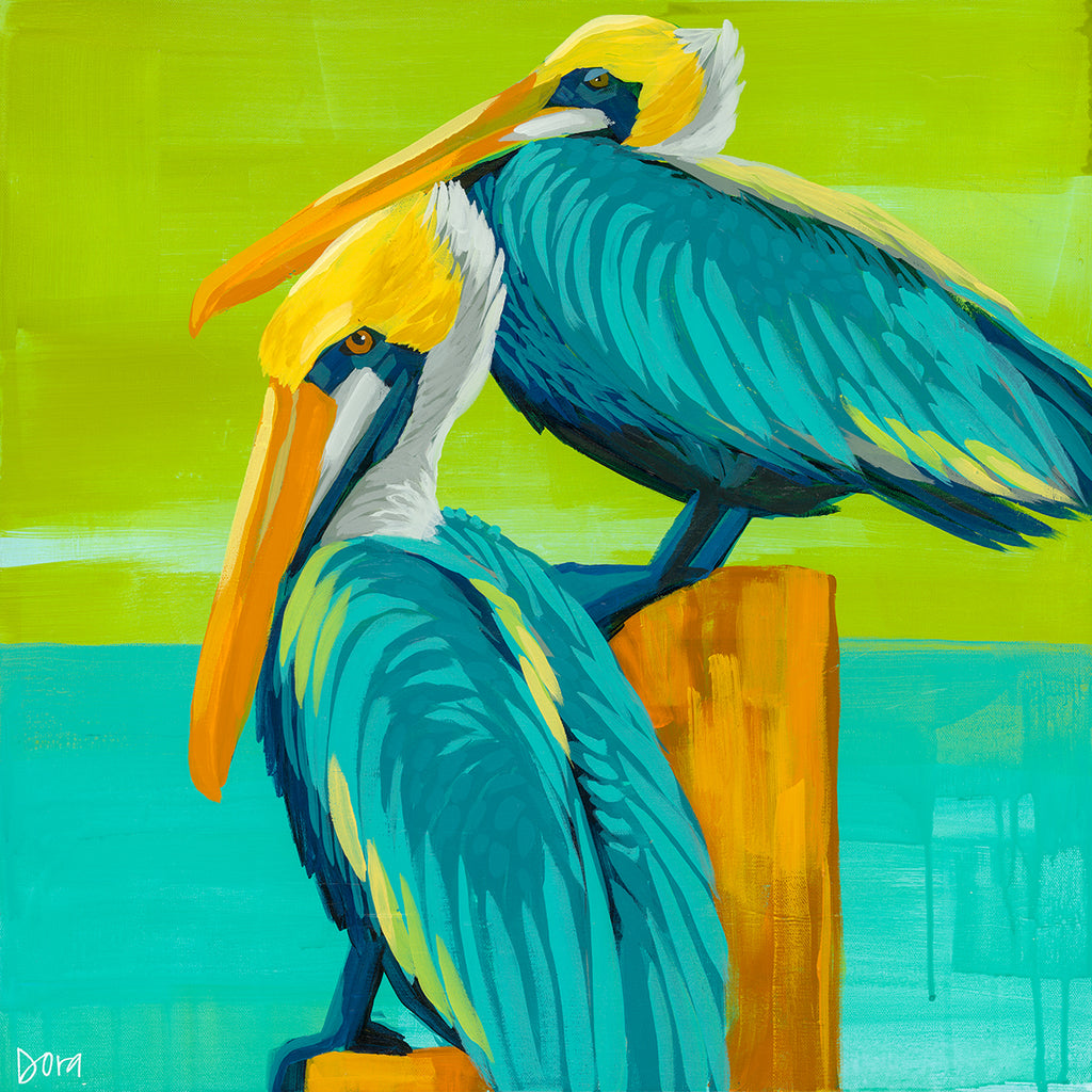 """High And Dry"" Shore Bird Art by Dora Knuteson"