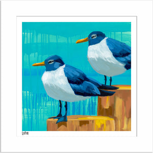 """Perched Pals"" Signed Print"