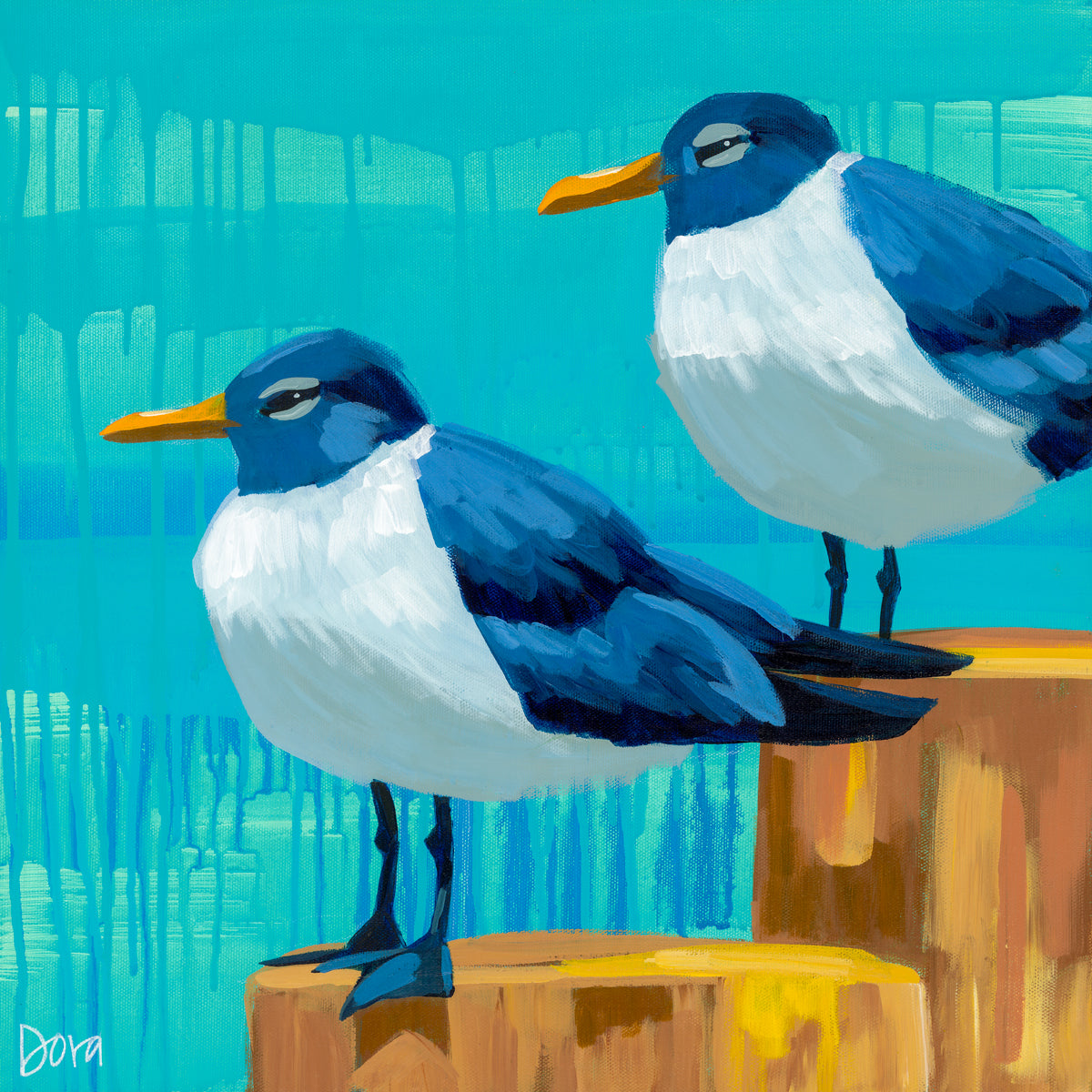 """Perched Pals"" by Dora Knuteson"