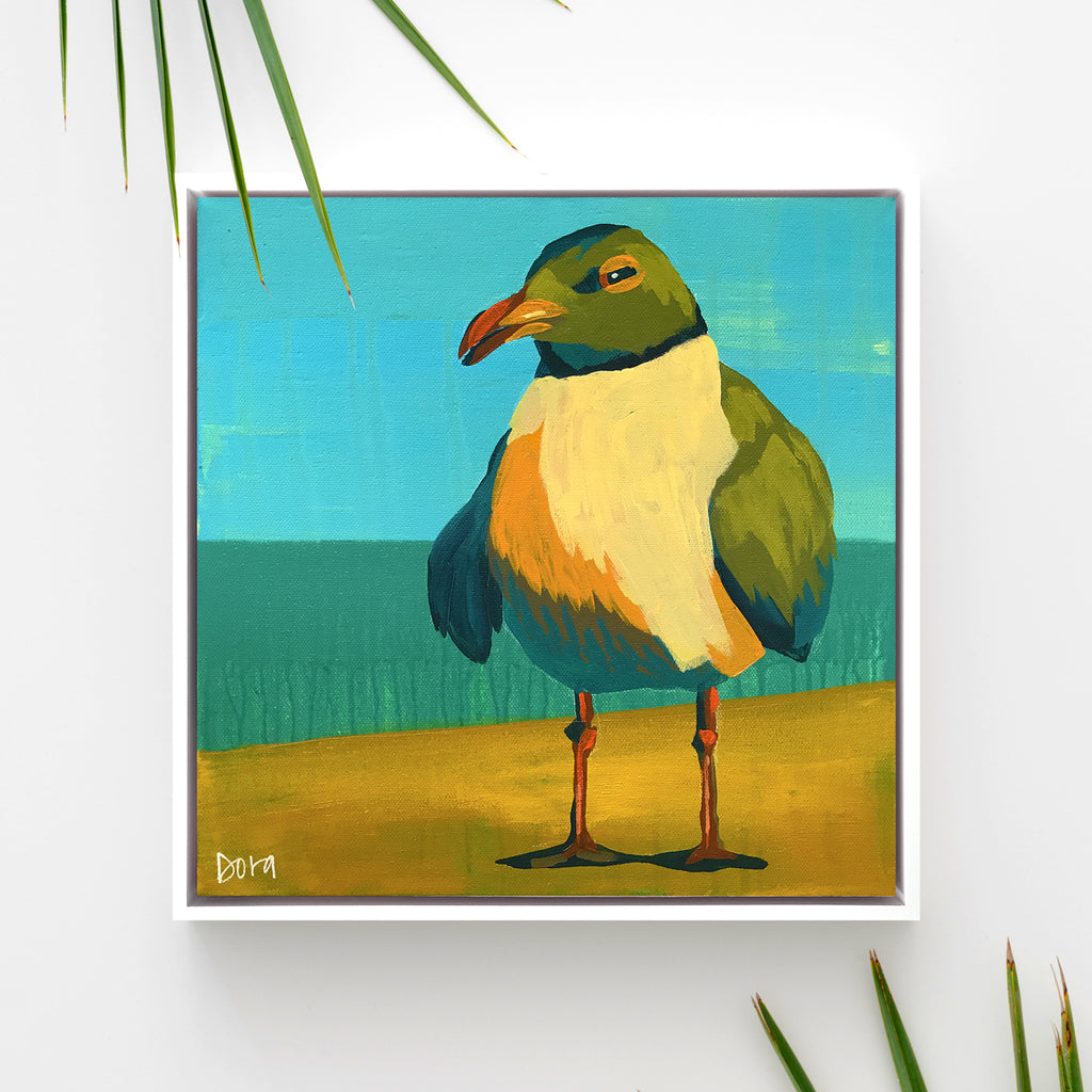"""Seeking Shade"" Shore Bird Art by Dora Knuteson"