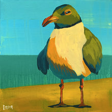 "Load image into Gallery viewer, ""Seeking Shade"" Shore Bird Art by Dora Knuteson"