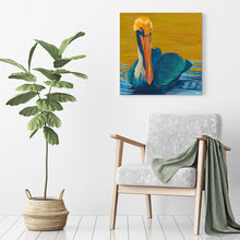 "Load image into Gallery viewer, ""Sunset Soak"" Shore Bird Art by Dora Knuteson"