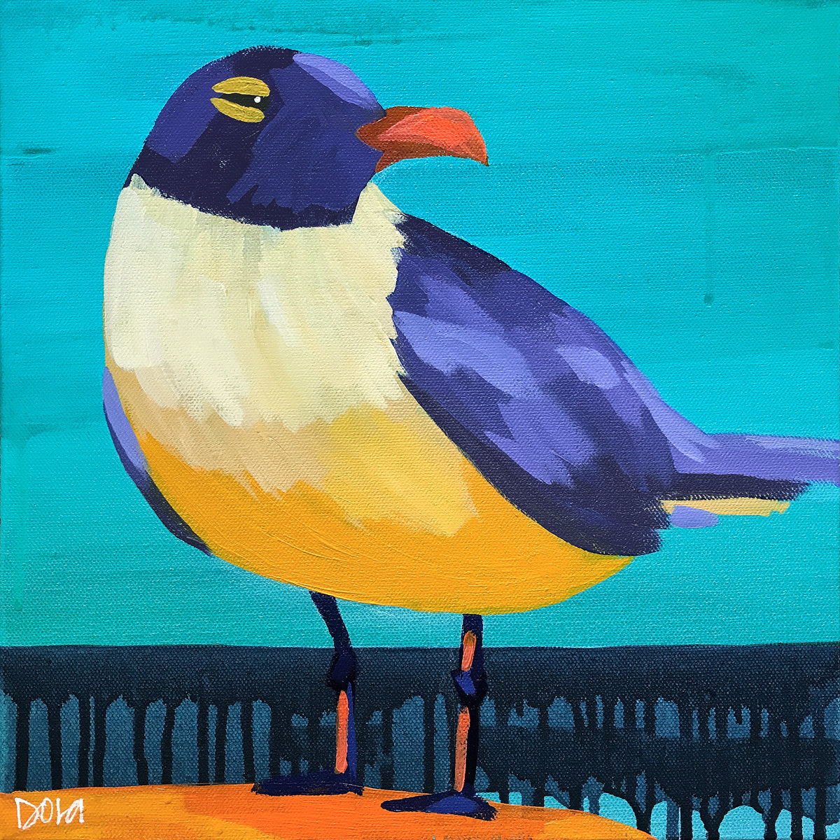 """Sunshine Squint"" Shore Bird Art by Dora Knuteson"