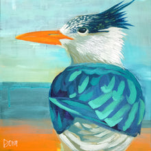 "Load image into Gallery viewer, ""Tern Around"" Shore Bird Art by Dora Knuteson"