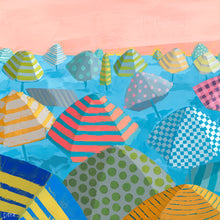 Load image into Gallery viewer, Left Detail of Bubble Gum Beach by Dora Knuteson