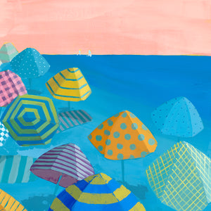 Right Detail of Bubble Gum Beach by Dora Knuteson