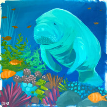 Load image into Gallery viewer, Manatee Study #5 by Dora Knuteson