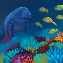 Load image into Gallery viewer, Midnight Manatee by Dora Knuteson