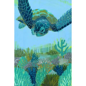 """Sight Sea-ing"" Sea Turtle Art by Dora Knuteson"