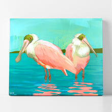"Load image into Gallery viewer, Spoonbill Shimmer, 20"" x 24"""