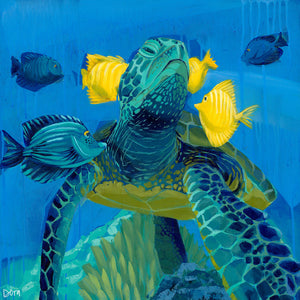 """The Good Life"" Sea Turtle Art by Dora Knuteson"