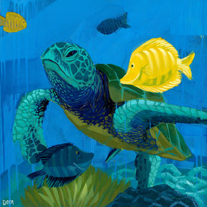 """Turtle Tango"" Sea Turtle Art by Dora Knuteson"