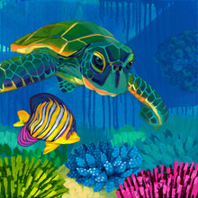 "Load image into Gallery viewer, ""Turtle Reef"" by Dora Knuteson"