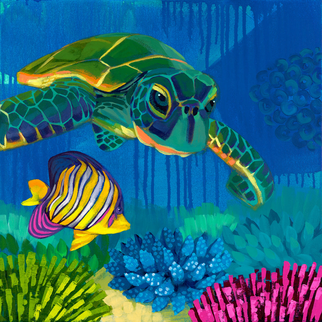 Turtle Reef by Dora Knuteson