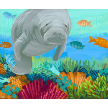 "Load image into Gallery viewer, ""White Whiskers"" Manatee Art by Dora Knuteson"