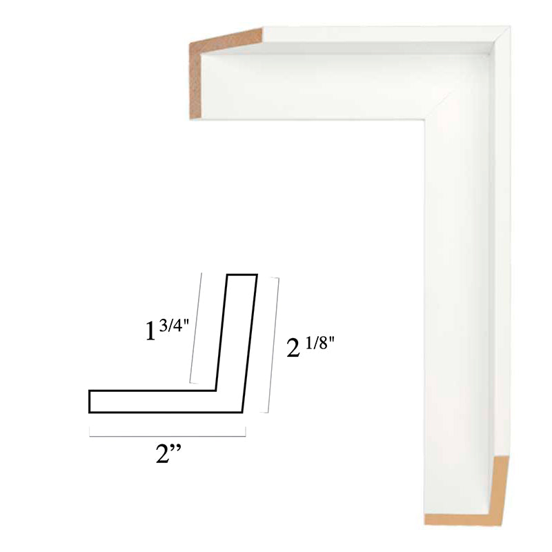 White Floater Frame