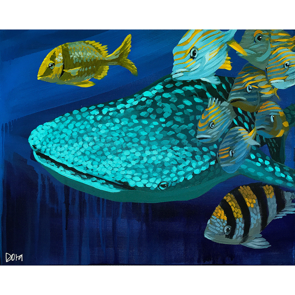 Lead The Way - Whale Shark Art by Dora Knuteson