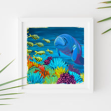 Load image into Gallery viewer, Sample Frame with Manatee Study #3 by Dora Knuteson