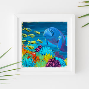 Sample Frame with Manatee Study #3 by Dora Knuteson