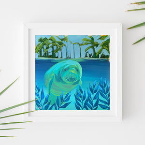 Sample Frame with Manatee Study #6 by Dora Knuteson
