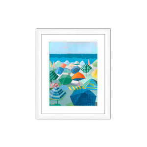 "Preview of ""Sea Breeze Social"" in White Frame"