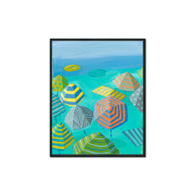 "Load image into Gallery viewer, Preview of ""Seafoam Sands I"" in Black Float"