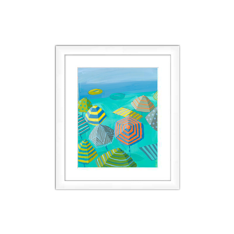 "Preview of ""Seafoam Sands I"" in White Frame"