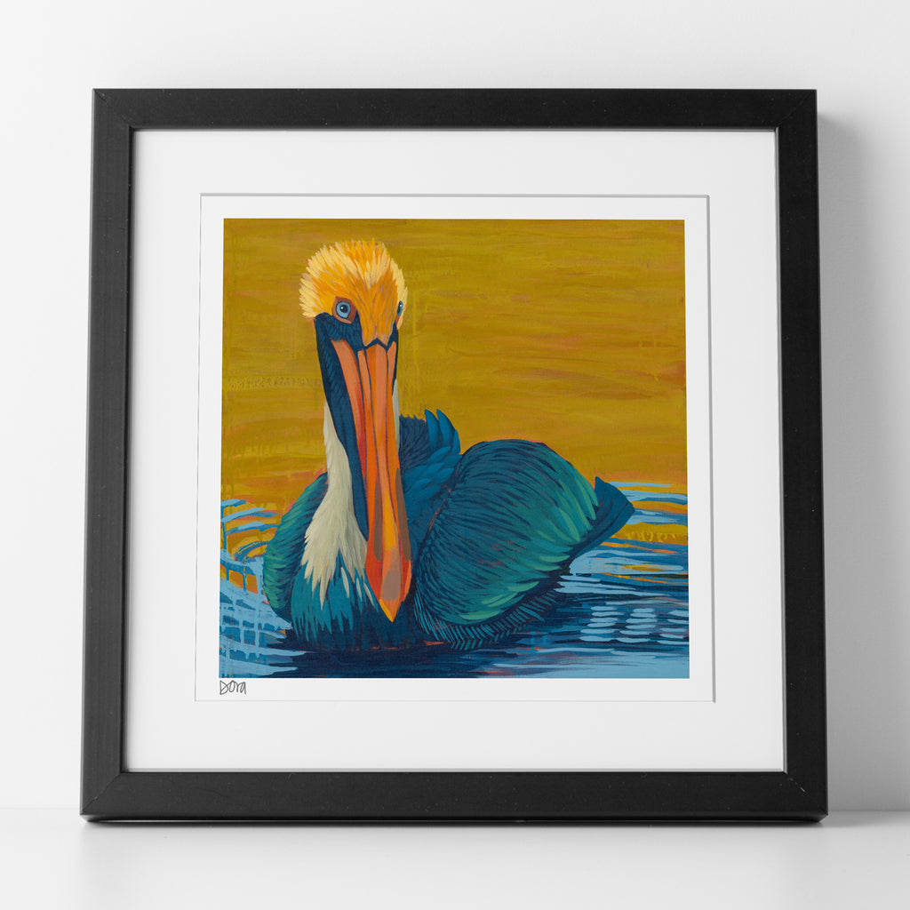 Preview of matted, framed and signed print of Sunset Soak by Dora Knuteson
