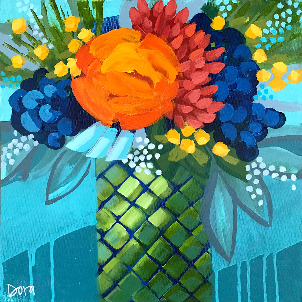 Tequila Sunrise - Sea Life Bouquet Art by Dora Knuteson