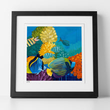 "Load image into Gallery viewer, Sample of matted, framed and signed ""Treasure Hunt"" Print by Dora Knuteson"