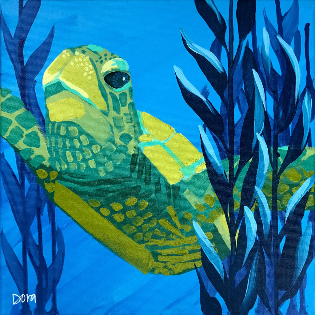"""Lift Off"" Sea Turtle Art by Dora Knuteson"