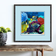 Load image into Gallery viewer, Coral Reef painting by Dora Knuteson to benefit World Oceans Day 2019