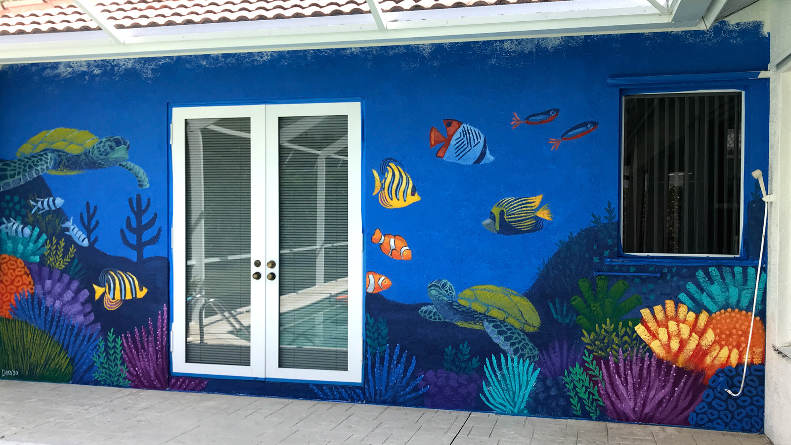 Coral Reef Mural by Dora Knuteson