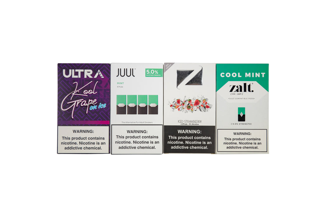 Just Mango - Sweet Mango  Ultra Max - Melon Bomb  Juul - Fruit  EonSmoke - Watermelon